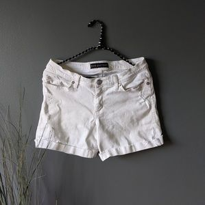 Rock & Republic White Stretch Denim Shorts